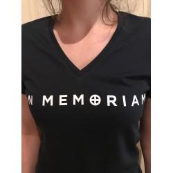 T-shirt Femme Marine Logo IM recto/verso Col V